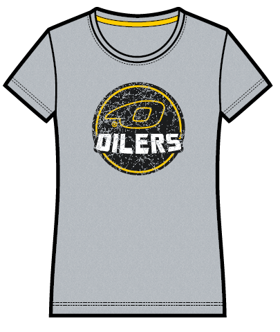 66504fda7 Vintage grå t-skjorte -dame - Oilersshoppen - Sammen er vi sterke!